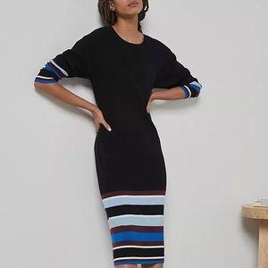 Anthropologie Parvati Midi Dress - Black Med (NWT)
